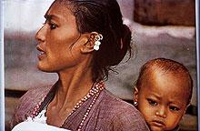 Tibeterin mit Kind